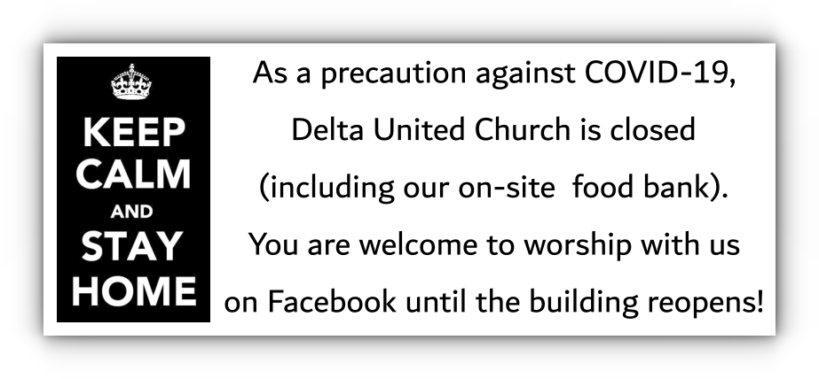 The Our church building is closed, but you can join us for Sunday worship on Facebook.